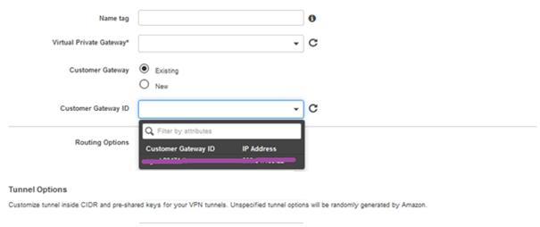 Customer Gateway ID