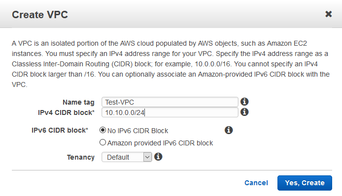 IPv4 CIDR block