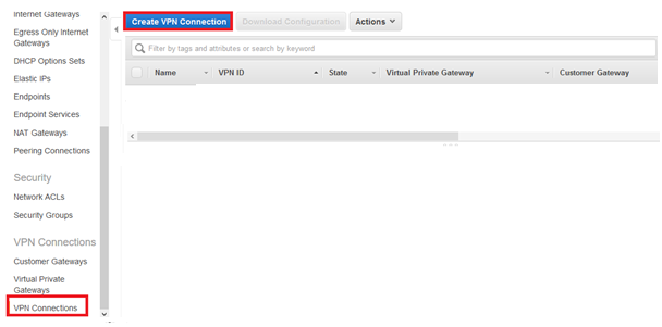 click Create VPN Connection