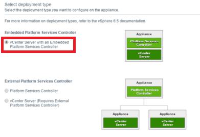 Select Embedded Platform Services Controller