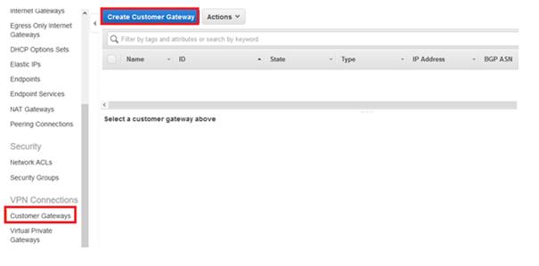Create Customer Gateway