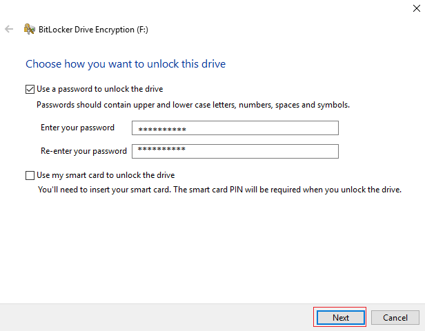 Unlock The Drive