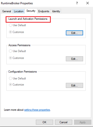 Launch and Activation Permission