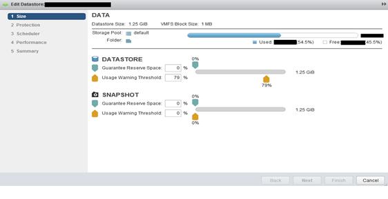 volume click on edit data store
