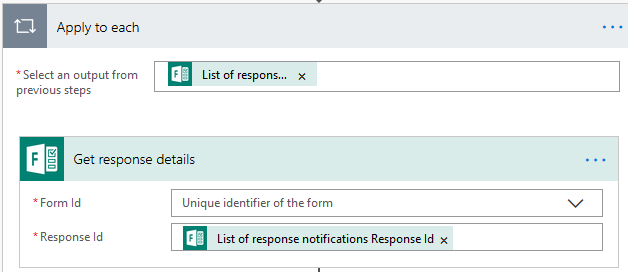 response details tab select form id
