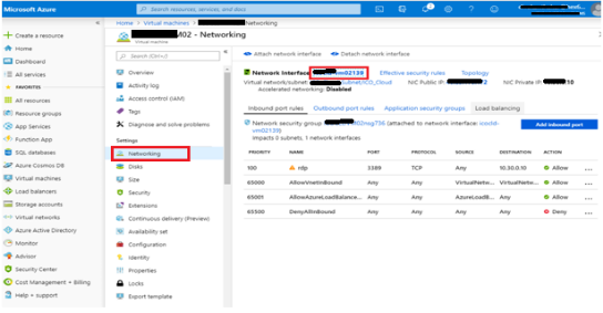 network interface azure-vm02139